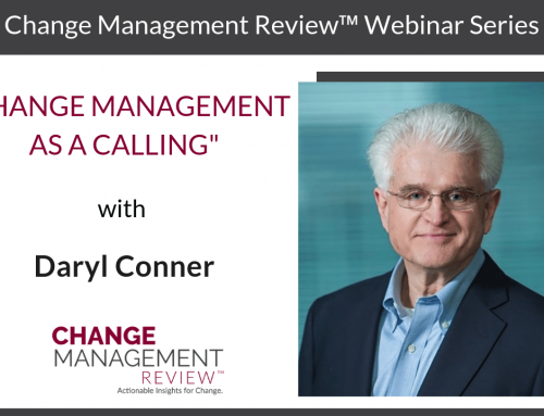 Change Management as a Calling