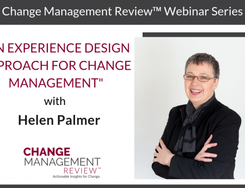 An Experience Design Approach for Change Management